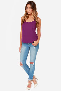Lucy Love Go To Magenta Tank Top at Lulus.com!