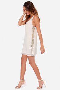 Sugar on the Side Cream Beaded Dress at Lulus.com!