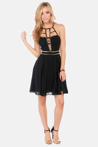 Modern Goddess Beaded Black Dress at Lulus.com!