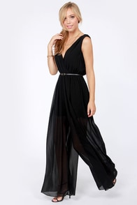 Gather the Rosebuds Black Jumpsuit at Lulus.com!