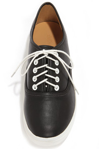 Dollhouse Happy Black Vegan Leather Sneakers at Lulus.com!