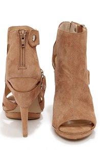Jessica Simpson Faina Mauve Kid Suede High Heel Booties at Lulus.com!