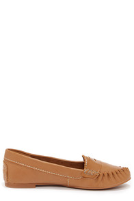 Steve Madden Murphey Tan Moccasin Loafers at Lulus.com!