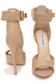 Steve Madden Mayven Blush Twist-Lock Ankle Strap Heels at Lulus.com!