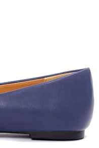 City Classified Sadler Navy Blue Pointed Flats at Lulus.com!