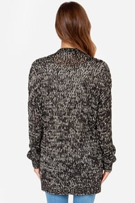 Volcom Mix Tape Black and Cream Cardigan Sweater at Lulus.com!