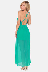 Crossing Pathways Sea Green Maxi Dress at Lulus.com!