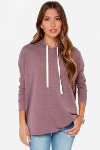 The Converse Heather Burgundy Sweater at Lulus.com!