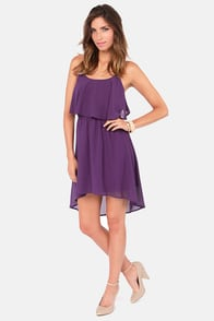 Behind Your Back Backless Purple Dress at Lulus.com!