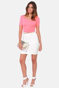 You Highlight My Life Neon Pink Crop Top at Lulus.com!