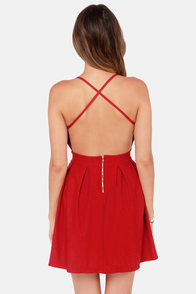 LULUS Exclusive Backyard Banquet Backless Red Dress at Lulus.com!