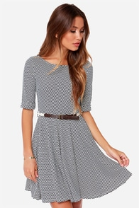 Others Follow Mood Swings Black Chevron Print Dress at Lulus.com!