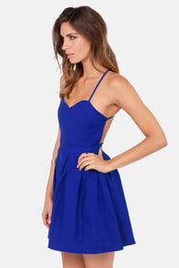 LULUS Exclusive Backyard Banquet Backless Royal Blue Dress at Lulus.com!