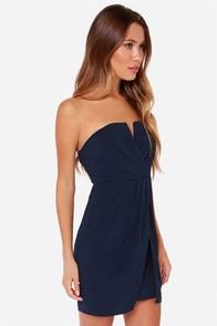 LULUS Exclusive Kauai Cutie Strapless Navy Blue Dress at Lulus.com!