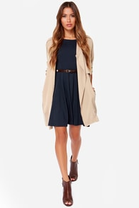 Others Follow Sharon Navy Blue Dress at Lulus.com!