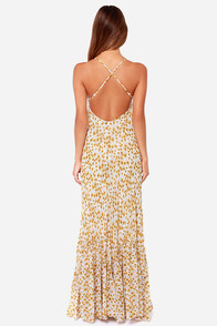 Flowers in a Day Ivory Floral Print Maxi Dress at Lulus.com!