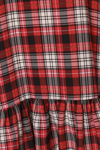 LULUS Exclusive Let It Flow Red Plaid Dress at Lulus.com!