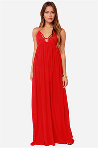 LULUS Exclusive Deep End Dive Red Maxi Dress at Lulus.com!