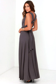 LULUS Exclusive Tricks of the Trade Grey Maxi Dress at Lulus.com!