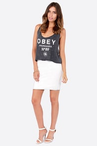 Obey 89 Washed Black Print Crop Top at Lulus.com!