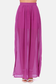 Going the Distance Purple Maxi Skirt at Lulus.com!
