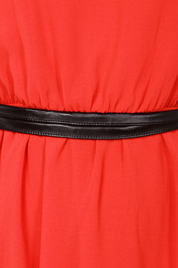 LULUS Exclusive Want You Back Black and Red Belted Dress at Lulus.com!