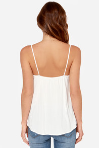 LULUS Exclusive Swinging Chandelier Ivory Tank Top at Lulus.com!