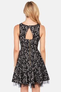 White Crow Waylen Black Lace Dress at Lulus.com!