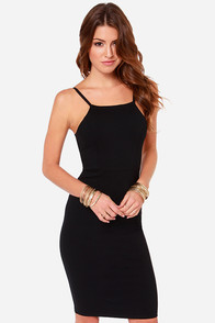 LULUS Exclusive Back In Business Black Midi Dress at Lulus.com!