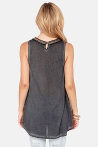 White Crow Wyland Washed Black Sleeveless Top at Lulus.com!
