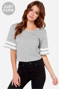 LULUS Exclusive Match Maker Heather Grey Crop Top at Lulus.com!