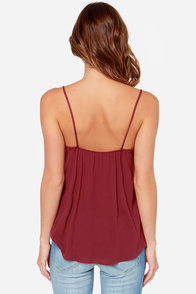 LULUS Exclusive Swinging Chandelier Burgundy Tank Top at Lulus.com!