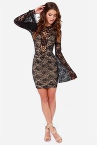 One Rad Girl Natalia Backless Black Lace Dress at Lulus.com!
