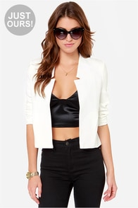 LULUS Exclusive Office Etiquette Ivory Jacket at Lulus.com!