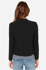 LULUS Exclusive Office Etiquette Black Jacket at Lulus.com!