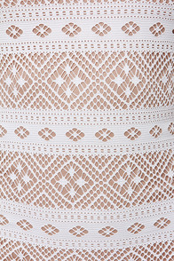 LULUS Exclusive Mesh-ing Around Ivory Lace Dress at Lulus.com!