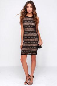 LULUS Exclusive Mesh-ing Around Black Lace Dress at Lulus.com!