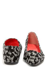 Bamboo Waranda 04 Black Zebra Print Pointed Ballet Flats at Lulus.com!