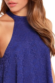 LULUS Exclusive Goodness Graces Royal Blue Lace Halter Top at Lulus.com!