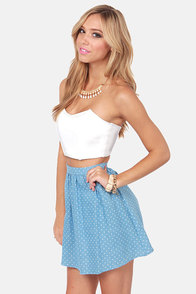 On Short Notice White Bustier Top at Lulus.com!