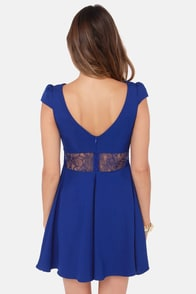 Ladakh Berlin Lace Royal Blue Dress at Lulus.com!