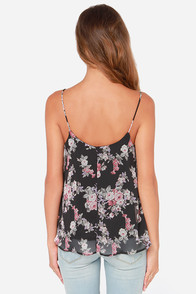 Fleur-Ever Young Black Floral Print Top at Lulus.com!