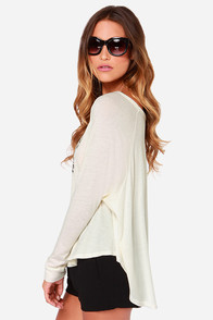 Obey 89 Wreath Cream Long Sleeve Top at Lulus.com!