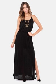 Ethereal Melodies Black Maxi Dress at Lulus.com!