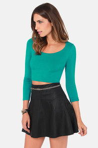 Playing for Keeps Teal Crop Top at Lulus.com!