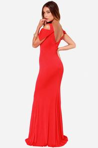 Bariano Gina Red Maxi Dress at Lulus.com!