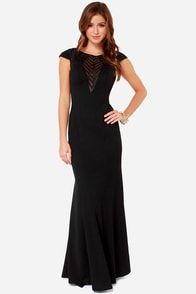 Bariano Mariabella Black Maxi Dress at Lulus.com!