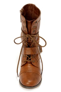 Georgia 86 Tan Lace-Up Combat Boots at Lulus.com!