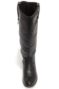 Rider 18 Black Knee High Riding Boots at Lulus.com!