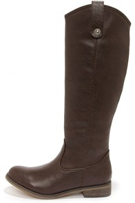 Rider 18 Brown Knee High Riding Boots at Lulus.com!